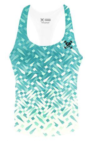 aqua mosaic stringer vest