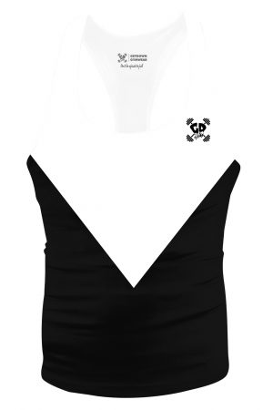 black triangle aesthetic stringer vest
