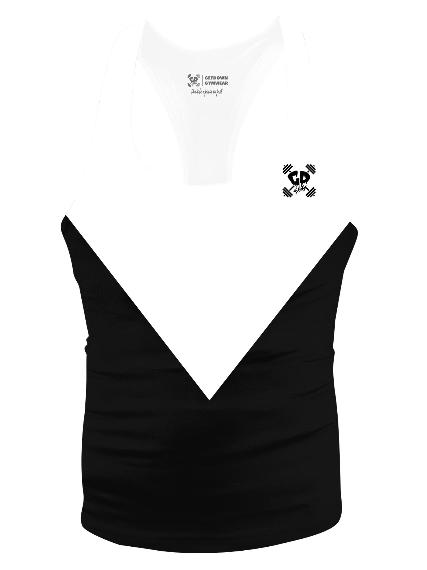 black triangle aesthetic stringer vest