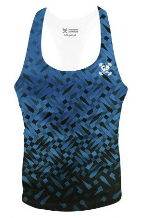 blue mosaic stringer vest