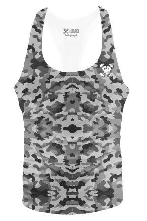 full grey camouflage stringer vest