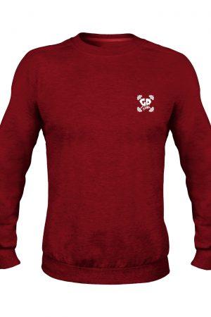 get down logo maroon crew neck