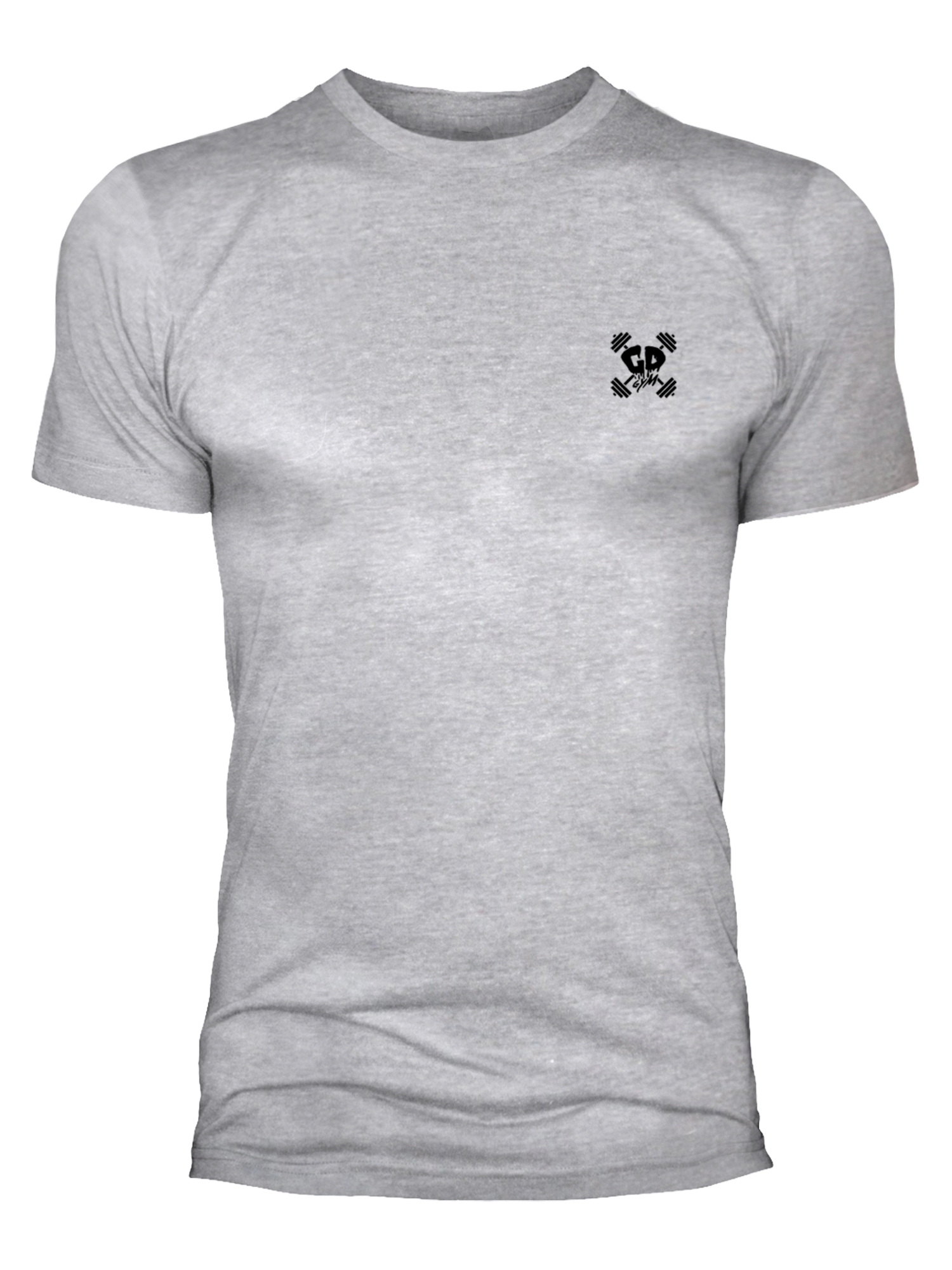Get Down Logo Fitted Crew Neck T Shirt Heather