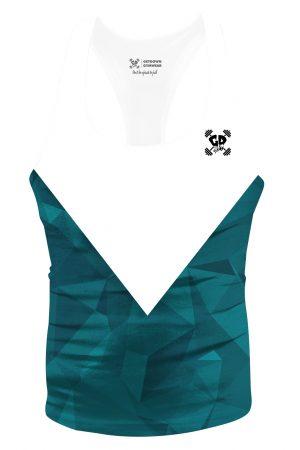 teal geometric aesthetic stringer vest