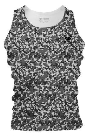 modern grey camouflage tank