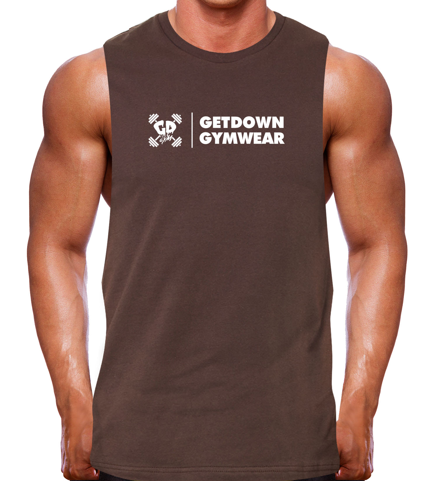 muscle tank rugged brown