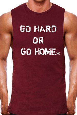 muscle tank rugged maroon