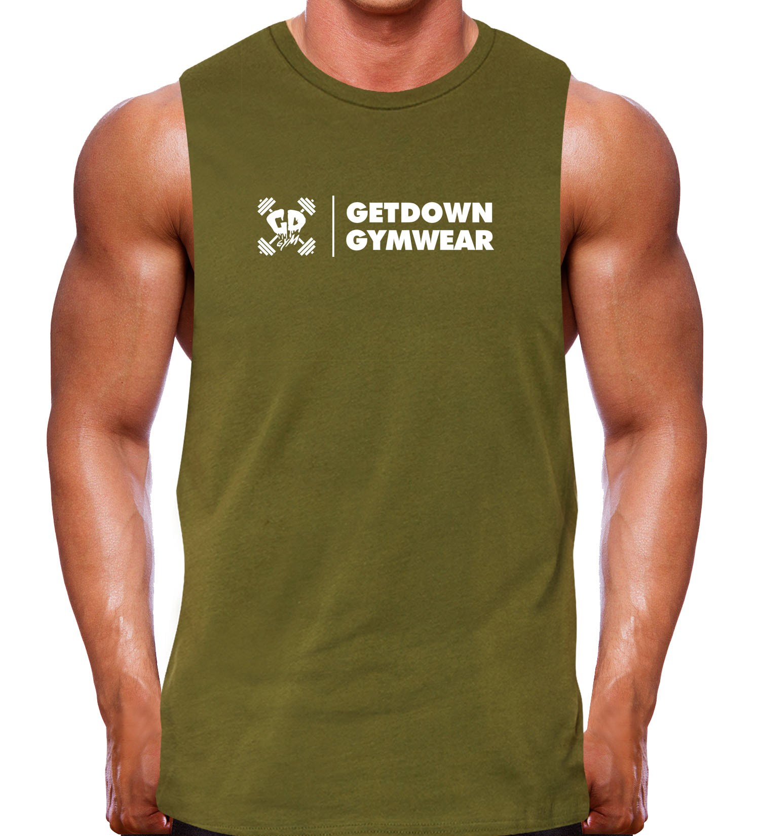muscle tank rugged olive