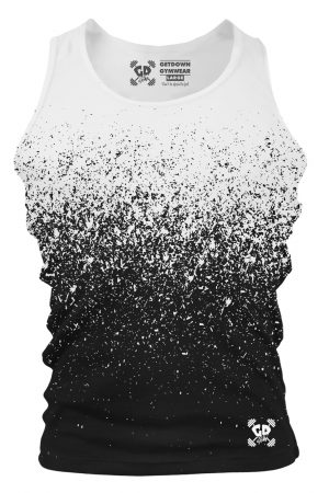 White Black Gradient Speckle Tank