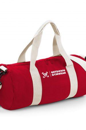 red promo gym bag